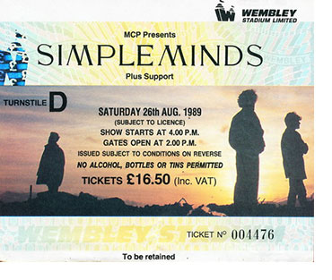 Matthew Ashton Simple Minds Tour Poster Photography