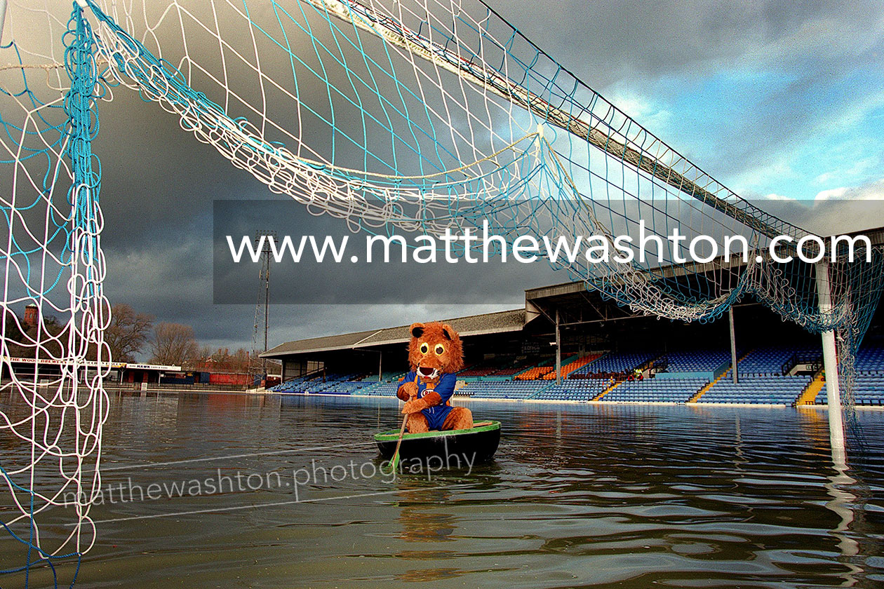 Shrewsbury Town Official Photographer Floods Gay Meadow