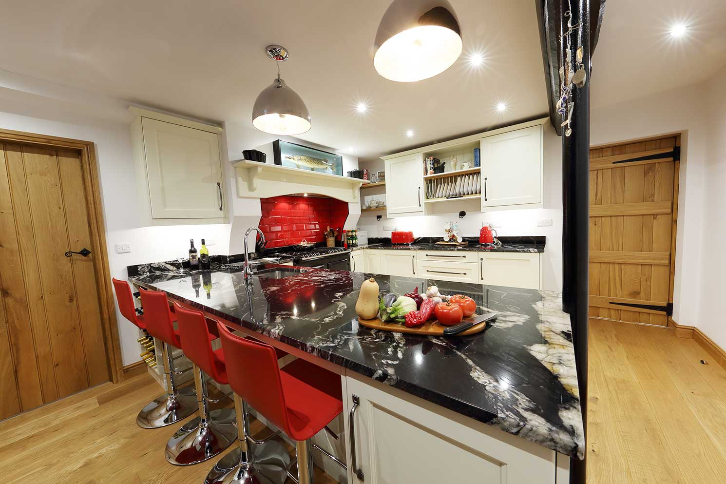 Architect designed kitchen in Mid Wales